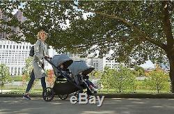 Baby Jogger City Select Lux Double Poussette Double En Granite Avec Siège Secondaire