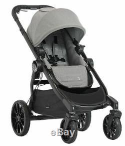 Baby Jogger City Select Lux Double Tandem Poussette Double Avec Second Seat Slate Nouveau