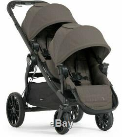 Baby Jogger City Select Lux Double Tandem Poussette Double Avec Second Seat Taupe