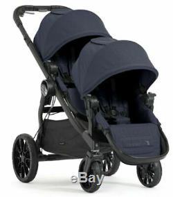 Baby Jogger City Select Lux Double Tandem Poussette Double W Second Seat Indigo Nouveau