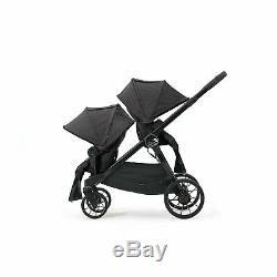 Baby Jogger City Select Lux Tandem Twin Double Poussette Avec 2 Seat, Granite