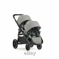 Baby Jogger City Select Lux Tandem Twin Double Poussette Avec 2 Seat, Slate