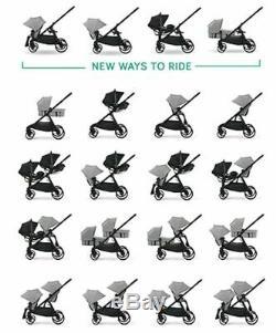 Baby Jogger City Select Lux Twin Double Poussette Granite Avec Second Seat Bassinet