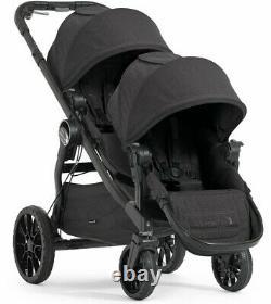 Baby Jogger City Select Lux Twin Tandem Double Poussette Avec Second Siège Granit