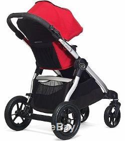 Baby Jogger City Select - Poussette Double Tandem Double Ruby Avec Deuxième Siège Nouveau