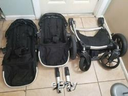 Baby Jogger City Select Twin Double Poussette, Noir