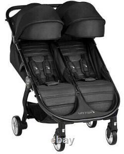 Baby Jogger City Tour 2 Twin Double Lightweight Compact Fold Travel Poussette Jet