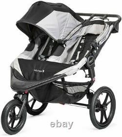 Baby Jogger Double Poussette Sommet X3 Twin Jogging Bébé Buggy Gris/noir