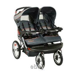 Baby Navigator Poussette Double Jogging Pour Deux Enfants Vanguard Ratcheting Canopy