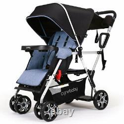 Baby Poussette Double Twins Twin Seats Nursery Seat Travel Bag Center Nouveau Système