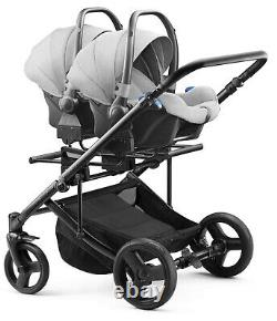 Baby Pram Jedo Duo For Twins, Double Poussette + Siège 2xcar, 4in1 Travel System