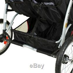 Baby Trend Double Jogger Millennium Twin Baby Infant Jogging Buggy Pliable Nouveau