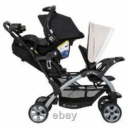 Baby Trend Double Poussette Avec 2 Sièges De Voiture Twin Playard Combo Système De Voyage