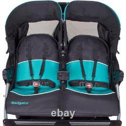 Baby Trend Navigator Double Jogging Poussette Tropic Blue/ Black Baby Twin Jogger