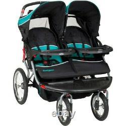 Baby Trend Navigator Double Jogging Poussette Tropique Baby Twin Jogger-newopen Box