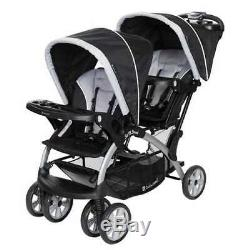 Baby Trend Sit-n-stand Double Tandem 2 Places Poussette Double, Stormy (open Box)