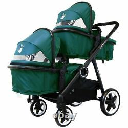 Baby Twin Unisex Me To You Pram System & In Line Tandem System 2nd Seat Boy Girl