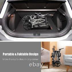 Babyjoy 2 Passager Push Pull Pliant Double Poussette Wagon Avec Draps Canopy
