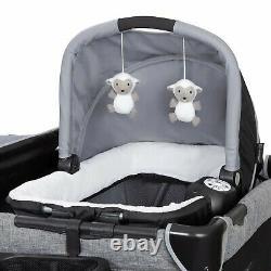 Bébé Double Poussette Système De Voyage Avec 2 Sièges De Voiture Twin Playard Combo