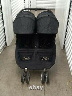 Bébé Jogger City Mini Twin Standard Double Seat Poussette Noire/ombre