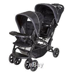Bébé Poussette Double Avec 2 Twins Siège D'auto Nursery Centre 2 Balançoires Sac Combo Set