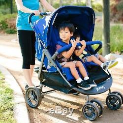 Bébé Poussette Double Jumeaux Scooter Jogger Marche Course Caddie Enfant