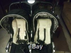 Black Combi Twin Savvy E Poussette Discontinued Se Plie Verticalement