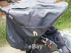 Black Out N À Propos Nipper 360 V4 Double Seat Buggy Terrain Poussette Jumelle