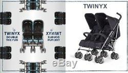 Bnib Twins Poussette Twinyx Cybex Poussette Double Pour Poussette Double + Habillage Pluie
