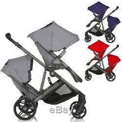 Britax B Ready Tandem Double Twin 2 Places Baby Buggy Poussette Landau Nouveau
