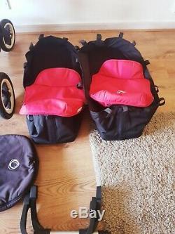 Bugaboo Âne Duo Twins / Double / Simple Avec Des Accessoires Rouge