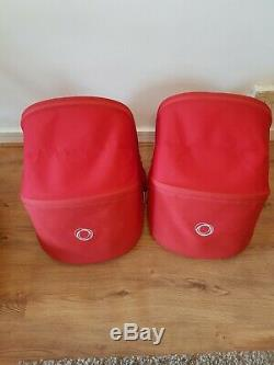 Bugaboo Âne Duo Twins / Double / Simple Système Voyage Full Package. Rouge