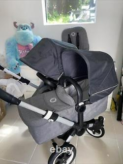 Bugaboo Donkey Duo 2 Double Buggy Marque Nouveau Stellar Hoods