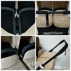 Bugaboo Donkey Twin Double Poussette Pram Unisex All Black / Sable Mono / Duo