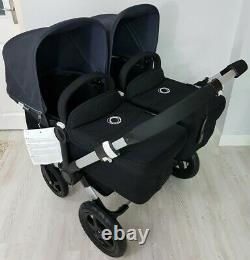 Bugaboo Donkey Twin Double Pushchair Pram Unisex Mono Duo + Nouvelles Hottes Stellaires
