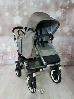 Bugaboo Donkey Twin Double Pushchair Pram Unisex New Mineral Taupe/ Mono / Duo