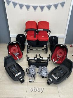 Bugaboo Donkey V1.1 Twin Red Full Double Système De Voyage