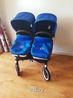 Bugaboo Duo Ane Twins / Double / Simple Royal Blue Avec Des Accessoires