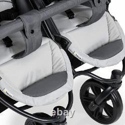 Buggy Poussette Pushchair Pram 2 Siège Double Buggy Twin Poussette Avec Grande Roue