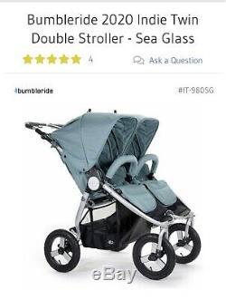 Bumbleride 2020 Indie Double Double Vitrage Seulement Poussette Sea Pour 700 $