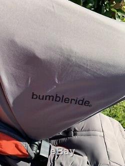 Bumbleride Bumble Tour Indie Double Gris Poignée Réglable Double Poussette