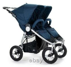 Bumbleride Indie Twin Compact Fold Baby Double Poussette Maritime Blue Nouveau