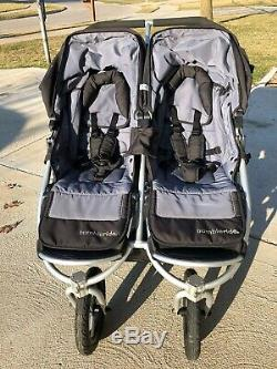 Bumbleride Indie Twin Double Poussette De Jogging Gris Noir