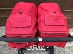 Bumbleride Indie Twin Red Poussette Double Excellent Etat
