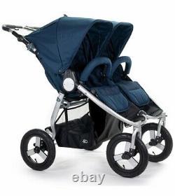Bumbleride Indie Twin Tout Terrain Twin Baby Double Poussette Maritime Bleu 2020