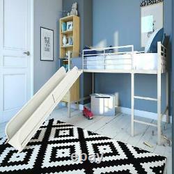 Cadre De Lit Jumeau Junior Loft Avec Slide Fun Kids/childrens Avec Ladder Rails Playroom