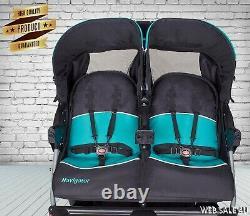 Chambre Double Bébé Poussette Jumeaux Jogger Pousser Les Enfants Voyage Siège De Bébé Mp3 Sound