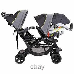 Coche Doble Para Bebes Y Niño Niña Carriola 2 En 1 Poussette Twin Baby Ultralig