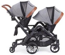 Contours Curve Seat Double Poussette Jumelle Double Pour Bébé Graphite Grey Nouveau 2018