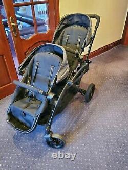 Contours Options Elite Twin Tandem Double Baby Poussette Avec Adaptateurs Maxi Cosy